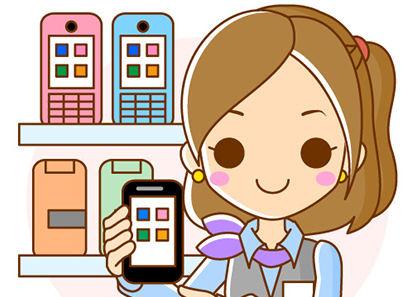 「携帯shop イラスト」の画像検索結果